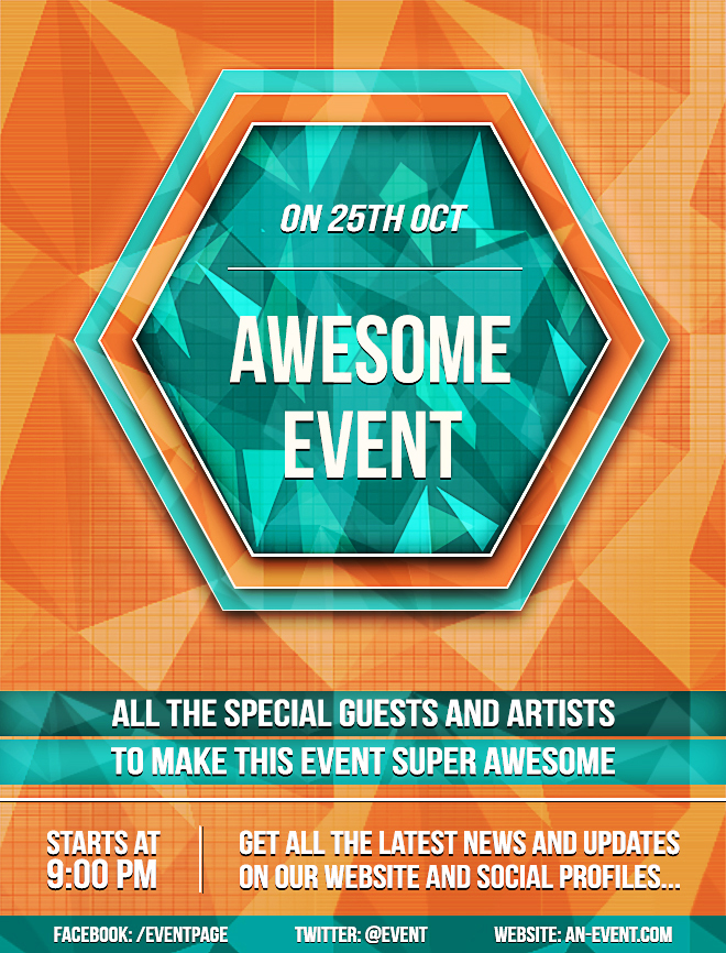 Create A Bright Geometric Event Flyer In Photoshop  Sitepoint