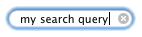 Figure 1. The search input type is styled to resemble the operating system's search fields