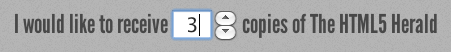 Figure 4. The number input seen in Opera