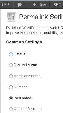 permalink settings