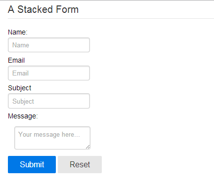 stacked form