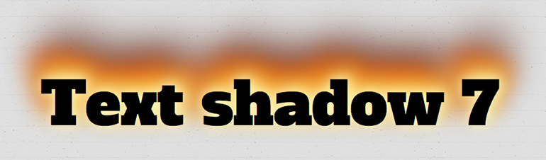 how to give shadow text in css