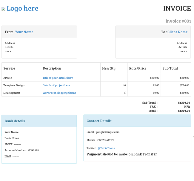 How To Create An Invoice With Twitter Bootstrap Part 2