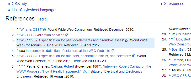 Wikipedia footnotes