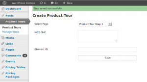 Creating Product Steps