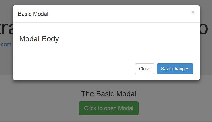 Default Bootstrap modal