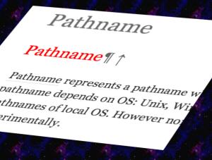 Pathname docs