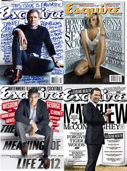 Four disparate Esquire cover designs