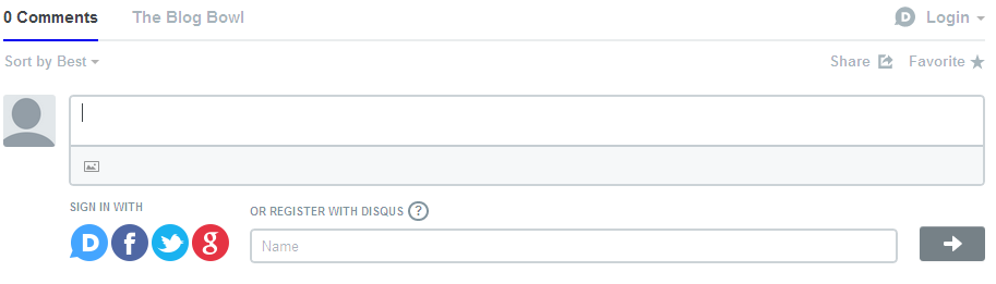 Screenshot of Disqus without signing in