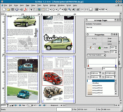 Linux design tools high end design on a low end budget for Scribus newspaper template