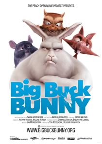 Big Buck Bunny: Created entirely in Blender.