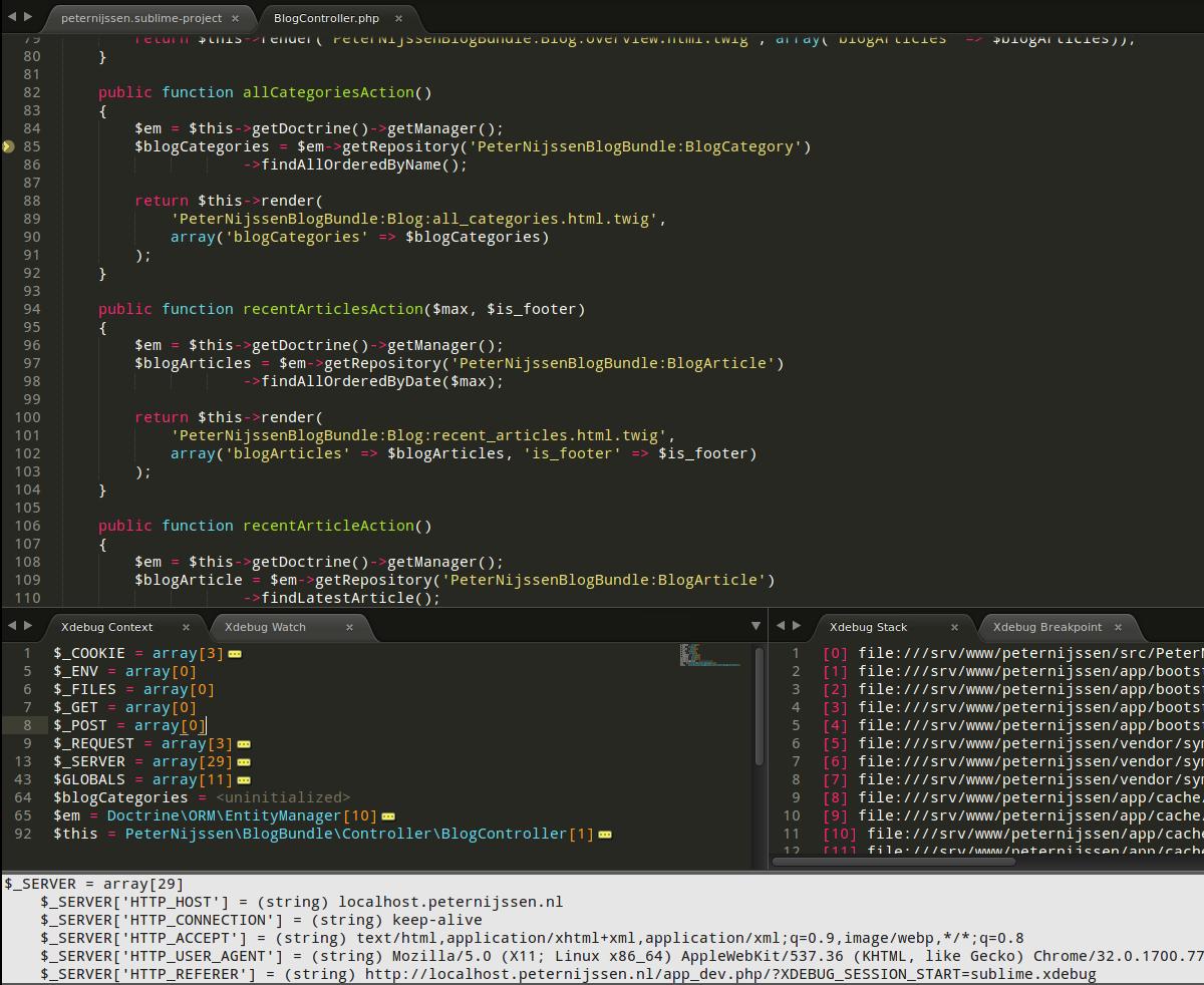 sublime text debugger javascript