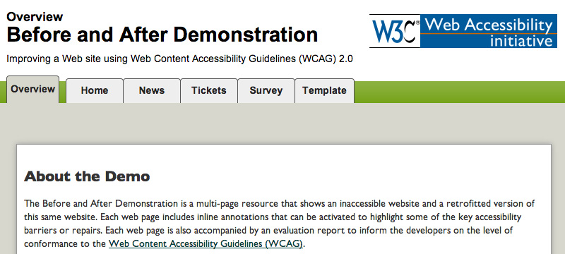 W3.org's Before and After Demonstration
