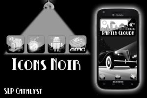 Screenshot: Icons Noir UI buttons