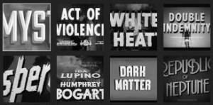 A selection of noir font treatments