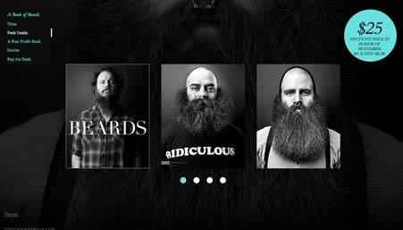 Screenshot: The Book of Beards website