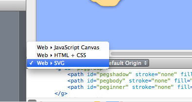 Dropdown: SVG/Canvas or HTML.