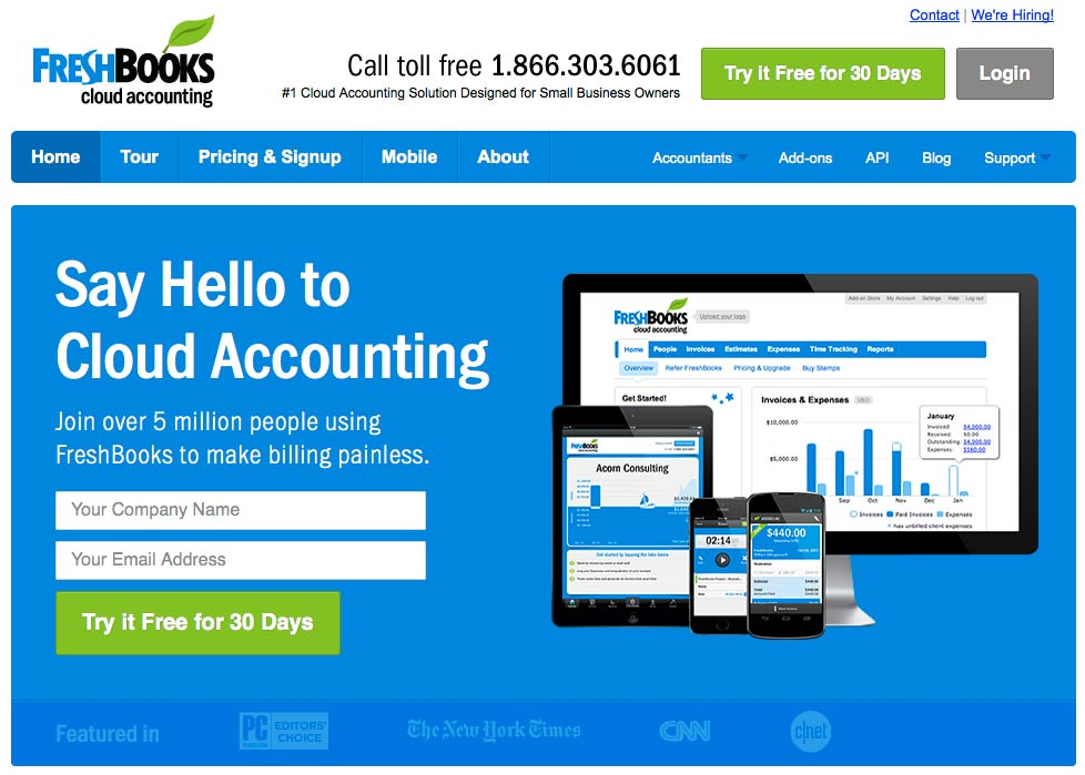 Website: Freshbooks.com