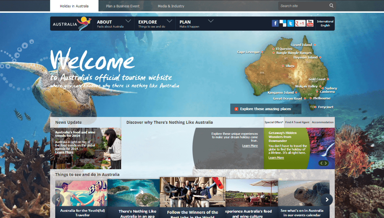 Website: Australian Tourism Site