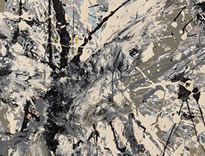 Section from Jackson Pollock's Number 28, 1950