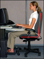 Upright sitting posture: