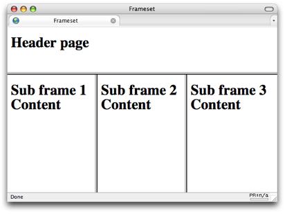 frameset (HTML element) — SitePoint