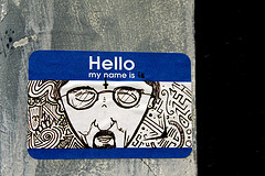 Graffiti: Hello,  My name is..