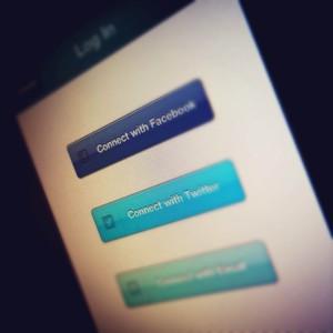 Mobile IOS login screen