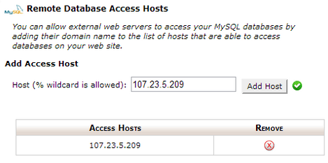 Remote DB Access Host