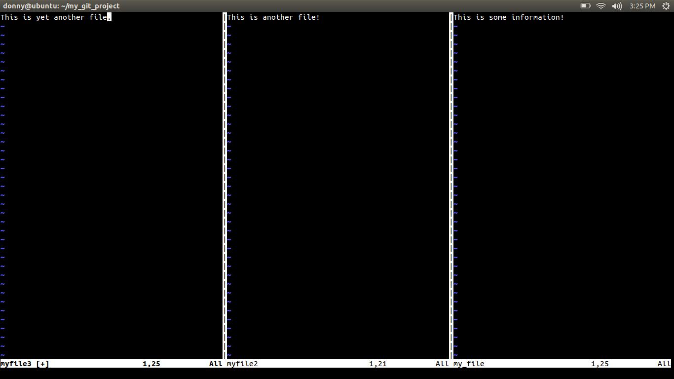 Adding files using Vim