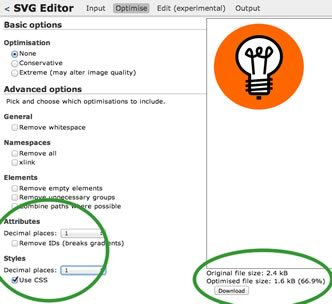 Peter Collingridge's online SVG tool.