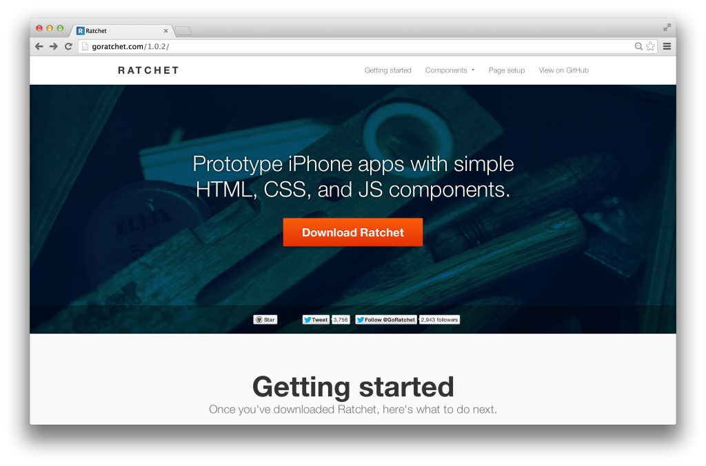 Prototype mobile apps easily with Ratchet