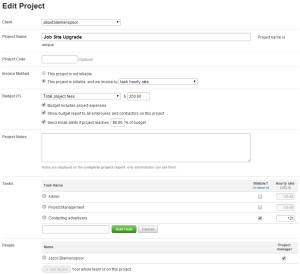Harvest project management