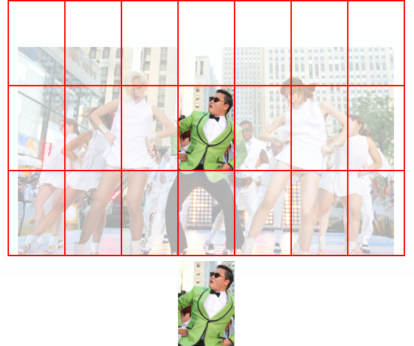 Figure 4.2. Our small image fits approximately 14 times in our large image