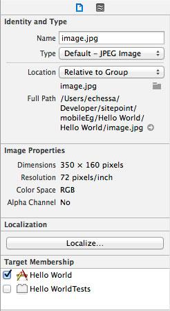 Localize a file