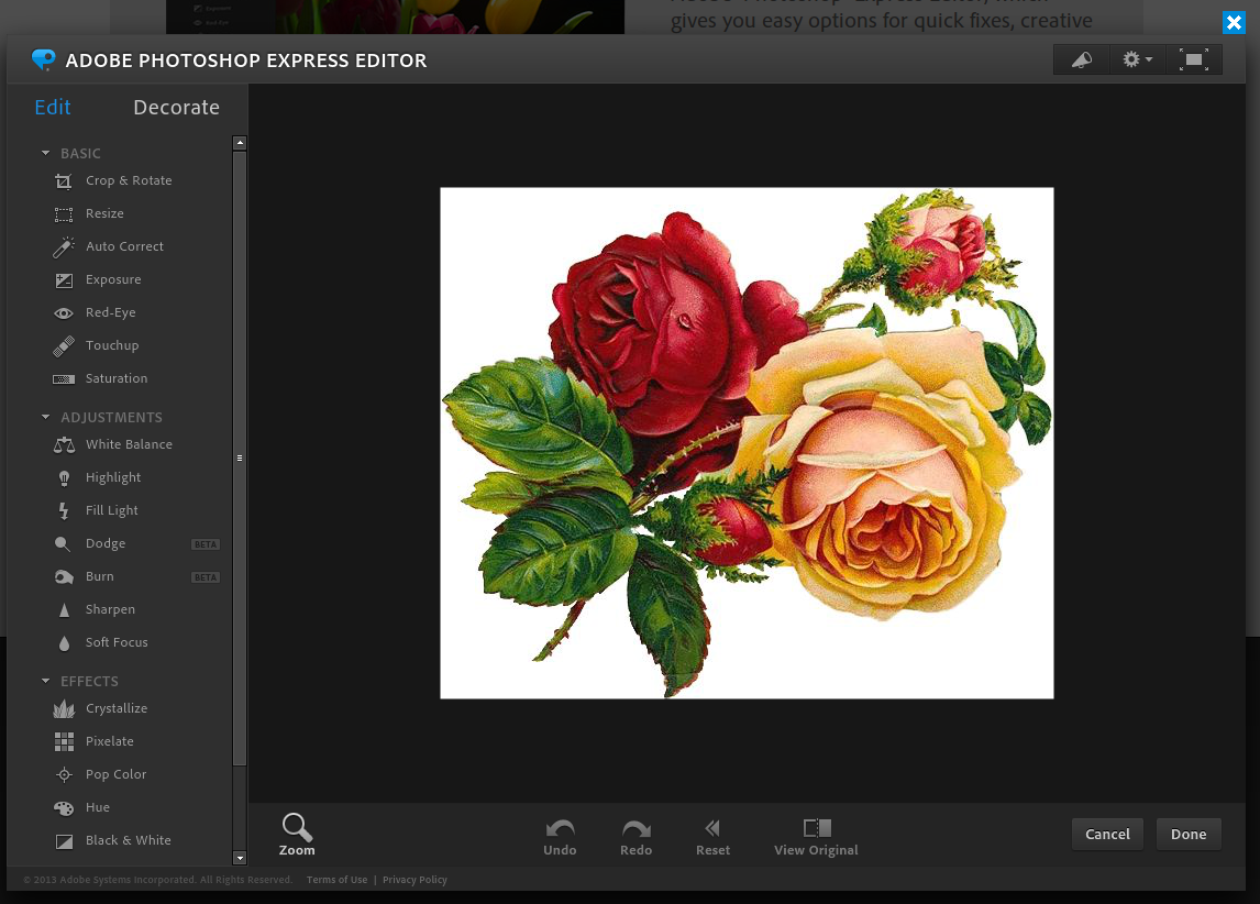 03 - Photoshop Express - 01 Main Screen