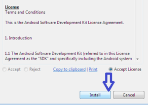 Accept Terms and Conditions and click Install