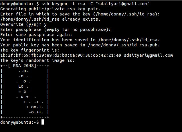 generate key pair