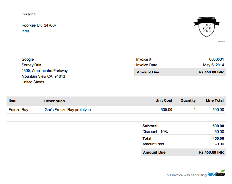 Freshbooks Invoice Throughout How To Invoice Clients