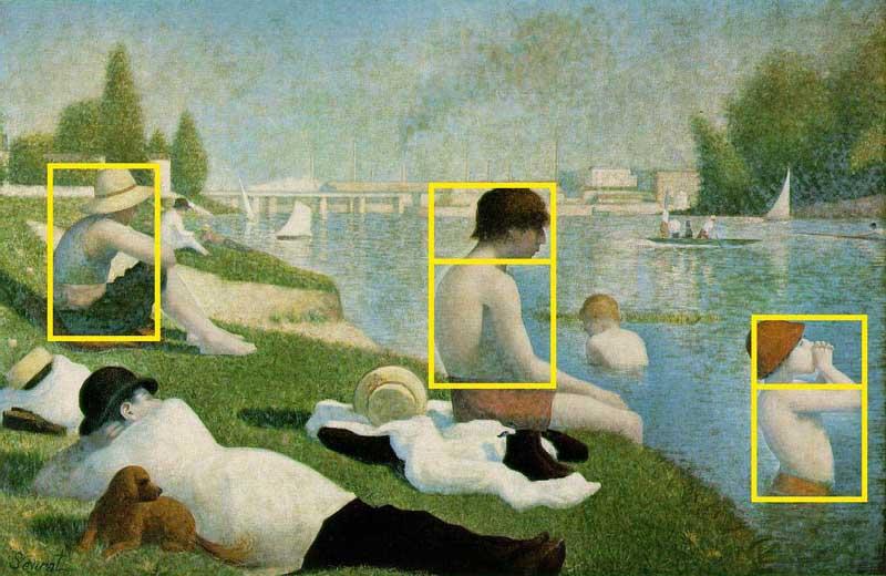 "George Seurat ""Bathers at Asnières"""