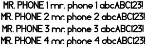 Mr Phone font