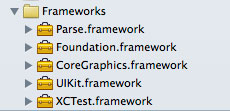 Frameworks folder in iOS project