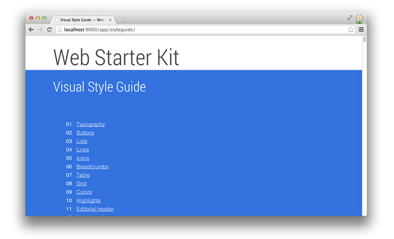 Style Guide Feature