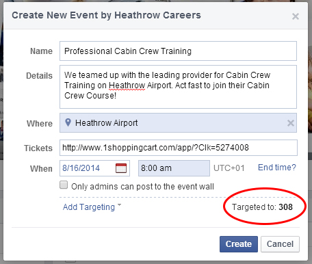 Creating and Managing Events Using Facebook Pages