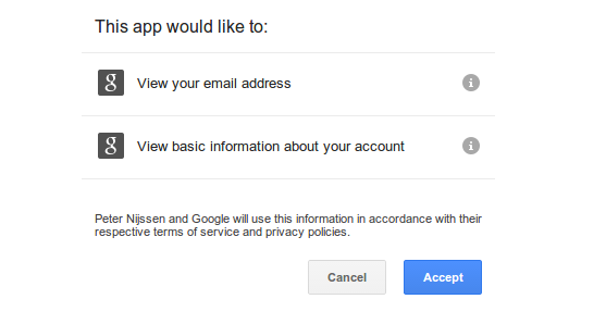 Google requesting to share information