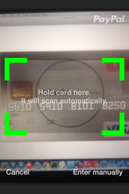 Card reader screenshot