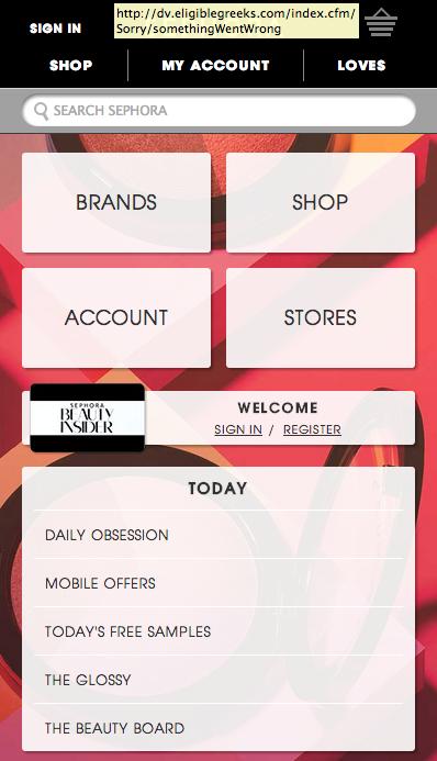 Sephora Mobile Website