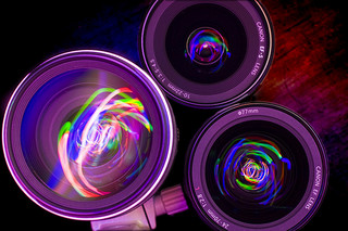 Pretty camera lenses
