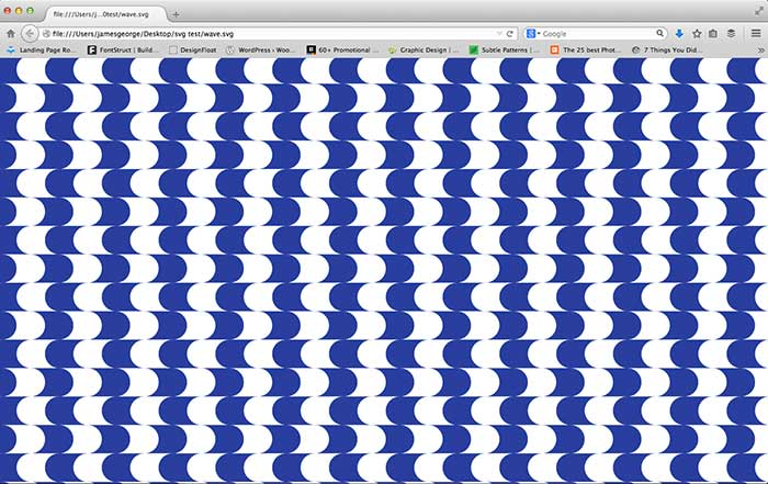 SVG pattern in browser