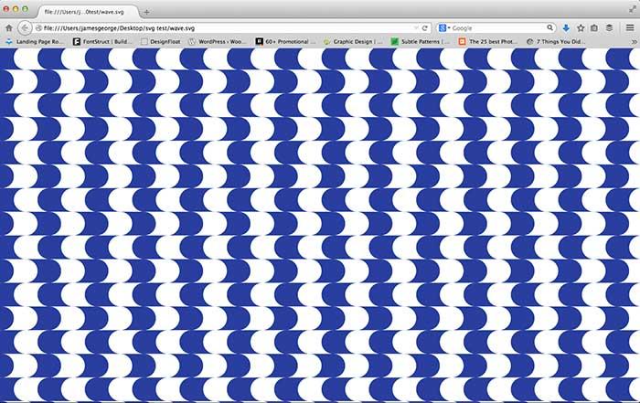 SVG pattern in browser